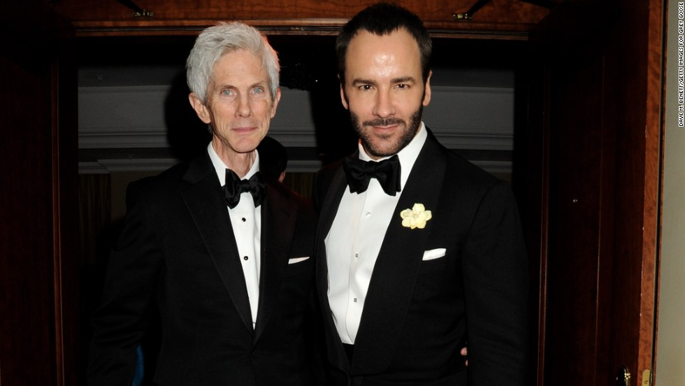 "Fashion designer Tom Ford, right, and his partner of 28 years, Richard Buckley, are married, the former Gucci craftsman confirmed to <a href=""http://www.vogue.co.uk/news/2014/04/08/tom-ford-marries-richard-buckley"" target=""_blank"">Vogue UK.</a> He didn't give details on the nuptials except to acknowledge that they were held in the United States. The couple are parents to a 1-year-old, <a href=""http://celebritybabies.people.com/2012/10/05/tom-ford-welcomes-son-alexander-john/"" target=""_blank"">Alexander John Buckley Ford</a>."