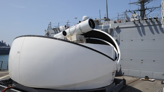 The Laser Weapon System (LaWS) will be tested at sea this summer.