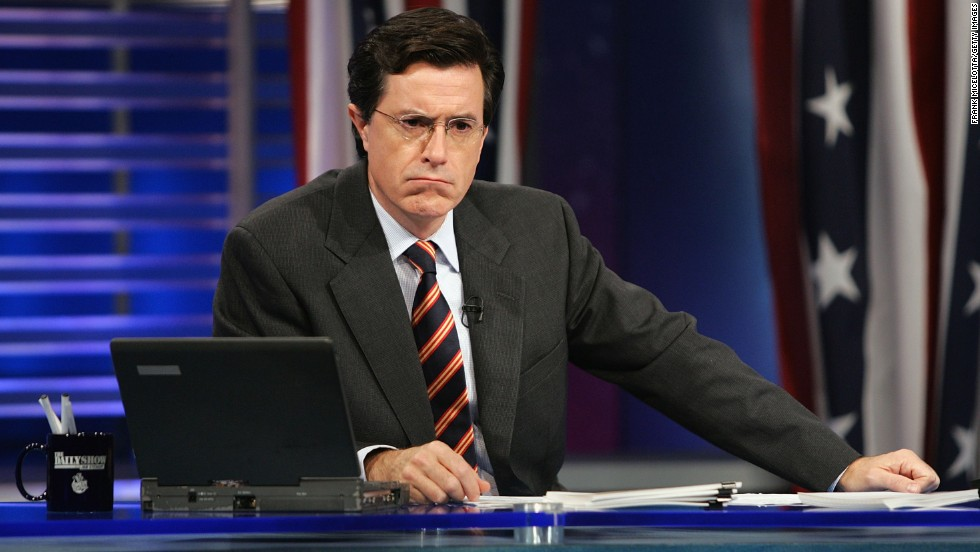 "As correspondent, Colbert was key to ""The Daily Show's"" election coverage. Here he takes part in Election Night 2004."