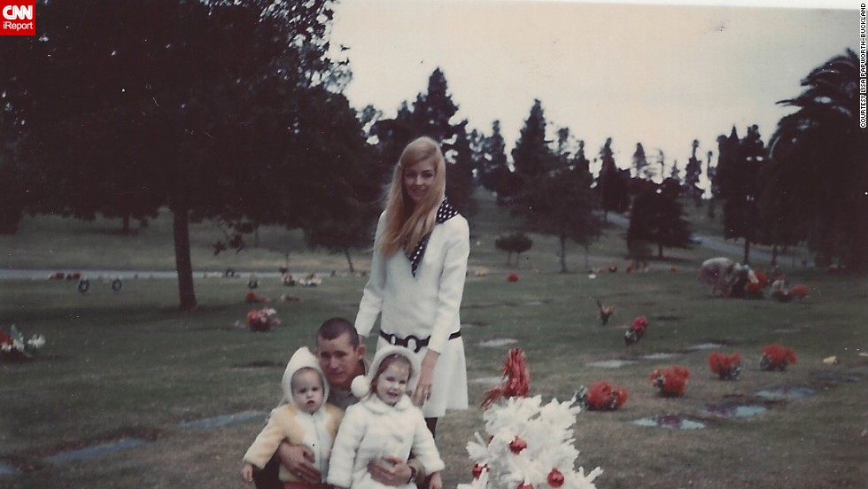 "<a href=""http://ireport.cnn.com/docs/DOC-952187"">Lisa Papworth-Buckland</a>, bottom left, went to visit her grandfather's grave in Los Angeles in 1969 and recalls her mother's fashion sensibilities. Later, after her parents' divorce, she ""moved into a dome house in Box Canyon and we lived the pure hippie life."""