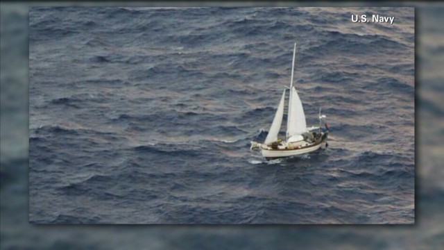 Family rescued at sea after boat sinks
