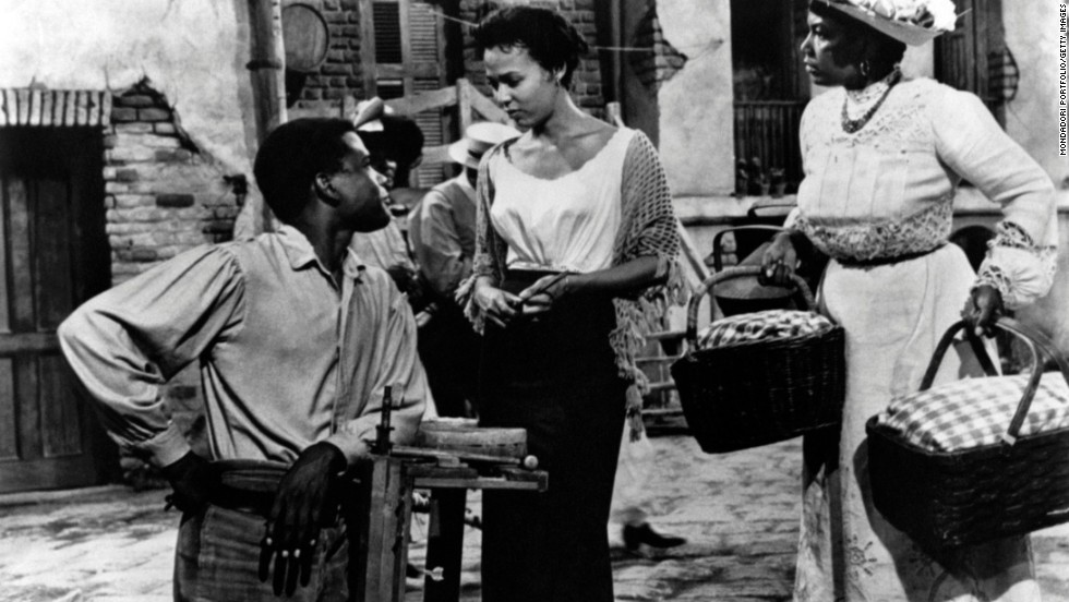 "Otto Preminger helmed the 1959 movie version of ""Porgy and Bess,"" the famed folk opera about the residents of Charleston, South Carolina's, fictional Catfish Row. Poitier played the disabled Porgy, who tries to free Bess from her abusive lover, Crown. The film's all-black cast and challenging subject matter -- a drug dealer, Sportin' Life, has a major role -- didn't appeal to audiences despite such classic songs as ""Summertime"" and ""It Ain't Necessarily So,"" and the film received mixed reviews."
