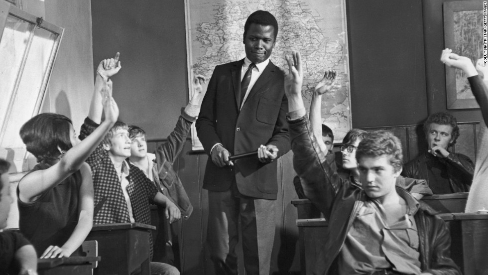 "Poitier's 1967 was one of the most dominant years ever enjoyed by an actor, with three successful and notable films. One of them, ""To Sir, with Love,"" turned ""Blackboard Jungle"" on its head, this time with Poitier as a teacher of misfits in working-class England. The movie's theme, sung by Lulu, was the No. 1 song of 1967."