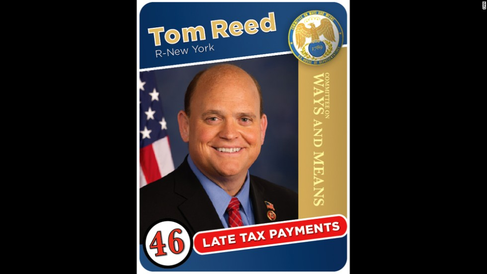 New York Rep. Tom Reed racked up more than $6,200 in penalties and interest on more than $100,000 in taxes.