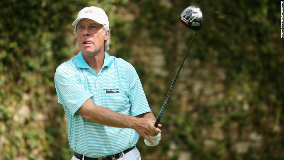 Ben Crenshaw competing on day two of the Masters. The two-time champion won his first Green Jacket in 1984 but failed to make the cut this year. There was better news for three other champions from the 1980s with Germany's Bernhard Langer, Scot Sandy Lyle and local boy Larry Mize all making it through to the play at the weekend.