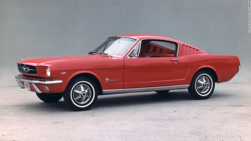 <strong>1965 Ford Mustang fastback.</strong> The fastback was not an option when the car was originally introduced in 1964, but it was added in 1965.
