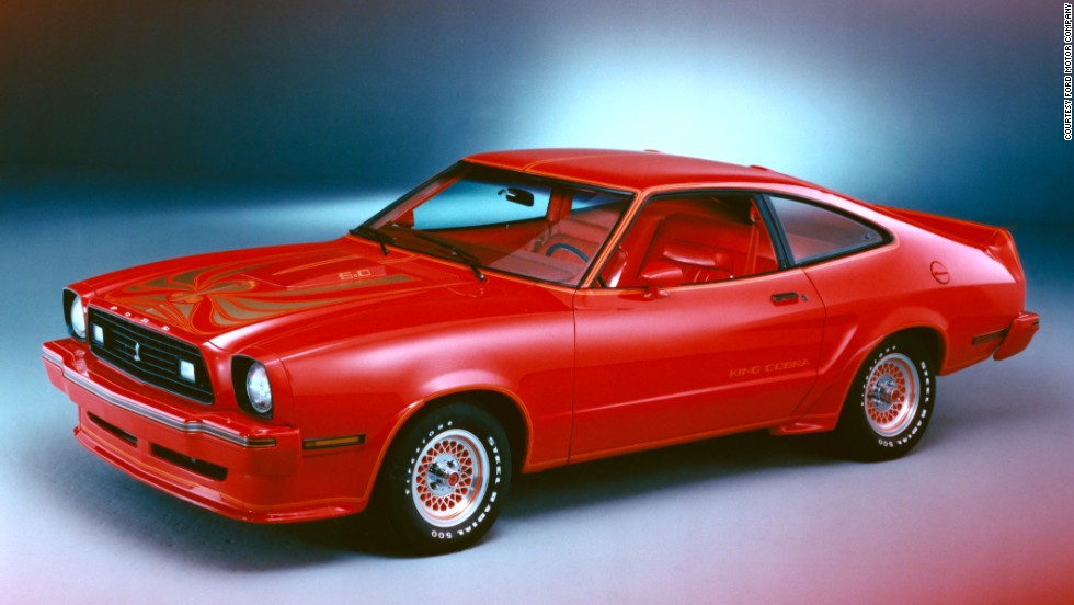 "<strong>1978 Ford Mustang II King Cobra. </strong>The new King Cobra was the first to wear a ""5.0"" badge -- the metric equivalent of the V-8's 302-cubic-inch displacement."