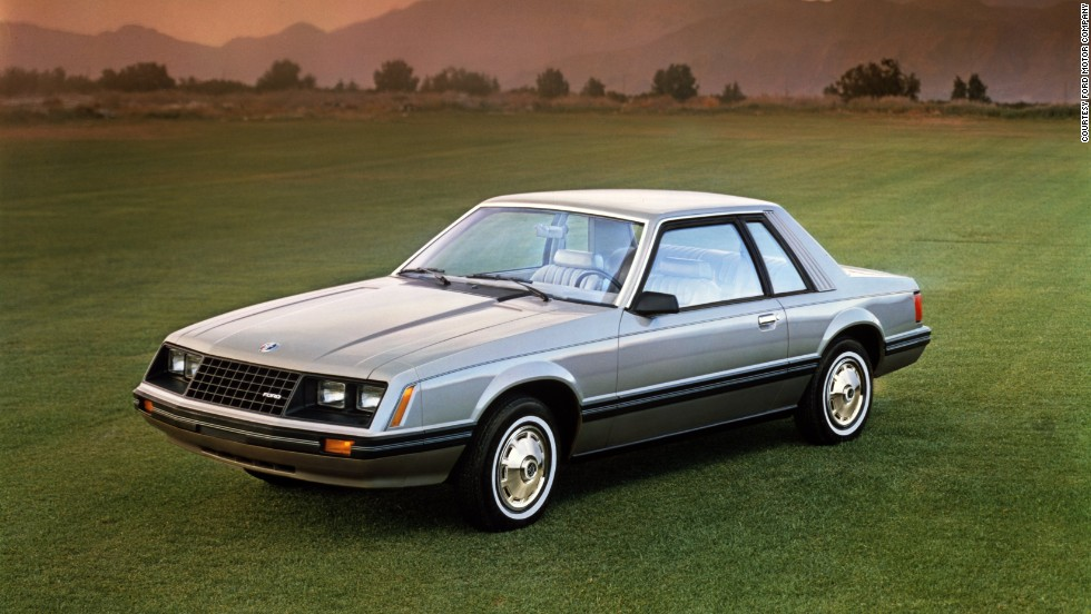 <strong>1981 Ford Mustang. </strong>The turbo four-cylinder was dropped from the engine lineup in 1981, and new emissions controls dropped the 255-cubic-inch V-8's power down to 115 horsepower.