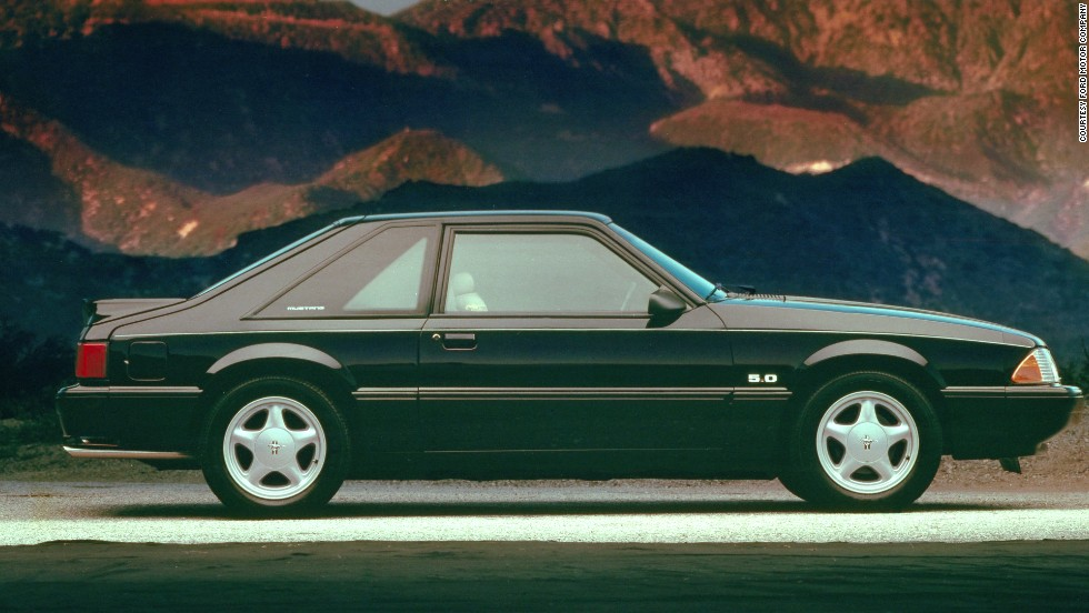 <strong>1991 Ford Mustang LX. </strong>V-8 models came with new five-spoke, 16-inch cast aluminum wheels -- the first time a 16-inch wheel was offered as a factory option on Mustangs.