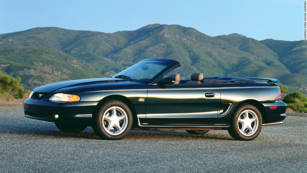 <strong>1994 Ford Mustang convertible prototype. </strong>The year 1994 brought on the fourth generation of Mustangs. The Fox-4 platform was re-engineered and structurally stiffer. The hatchback body style was discontinued, leaving the two-door coupe and convertible.