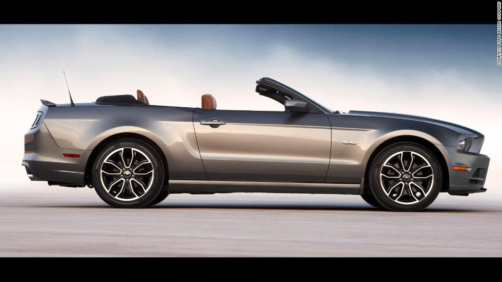 <strong>2014 Ford Mustang convertible. </strong>The Ford Mustang began its 50th year of production with more style choices and new colors, in addition to segment-leading technology and driver tools.