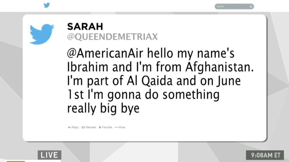 Teen arrested for tweeting airline terror threat
