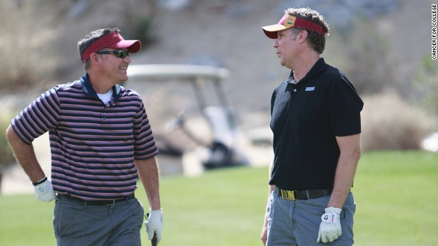 Will Ferrell and Craig Pollard golf to raise money for Cancer for College