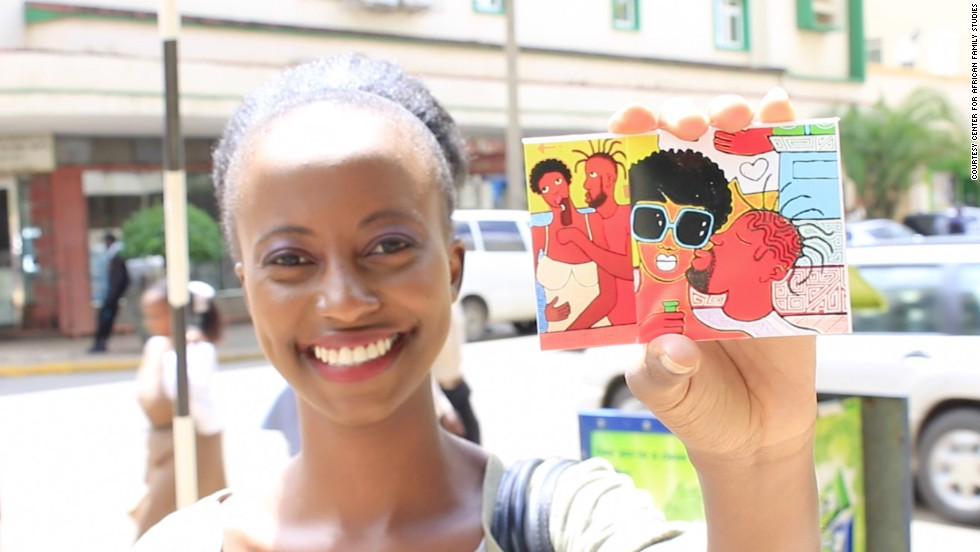 The Center for African Family Studies (CAFS) has joined forces with Kenyan artist Michael Soi to create eye-catching condom wrappers to promote safe sex.