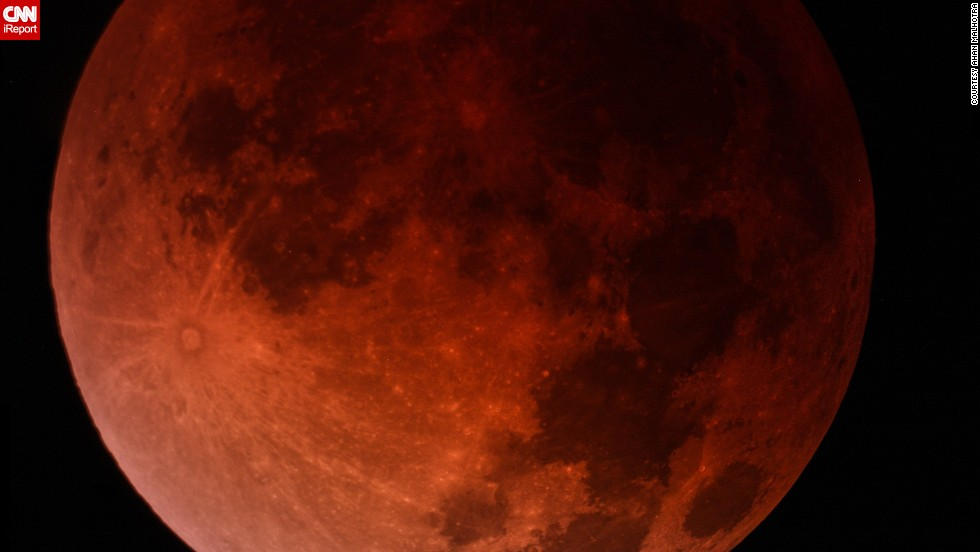 "High school sophomore <a href=""http://ireport.cnn.com/docs/DOC-1120703"">Ahan Malhotra</a> and his dad captured this composite image of the blood moon over Miami early April 15. ""My dad and I have been planning to view this for many months, and it was truly a breathtaking experience,"" said Malhotra, an astronomy enthusiast who likes to photograph ""mostly galaxies and nebulae."""