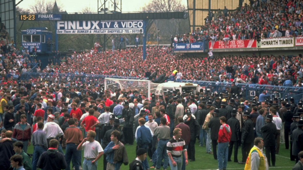 Ninety-six Liverpool fans died during the FA Cup semifinal against Nottingham Forest at Sheffield Wednesday's Hillsborough stadium on April 15, 1989.