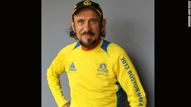 This year will be John Farah's 19th Boston Marathon.