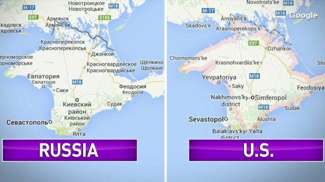 Google maps annexes Crimea in Russia CNN Video