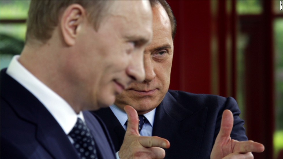 For Berlusconi and Putin, a bromance