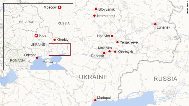 Map: Unrest in eastern Ukraine