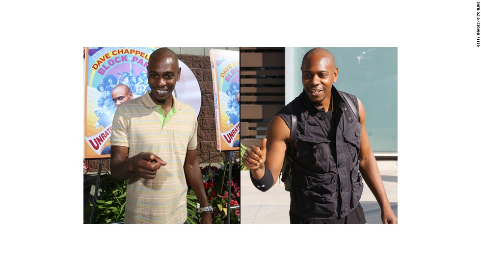 "On April 15, Dave Chappelle was spotted in Los Angeles carrying some extra muscle. Apparently, the comedian has been spending his free time in the gym. While his physique has changed, his sense of humor hasn't; <a href=""https://www.youtube.com/watch?v=r6RZ41p-42o"" target=""_blank"">Chappelle joked with David Letterman</a> in June that he didn't quit TV, he's just seven years late for work."