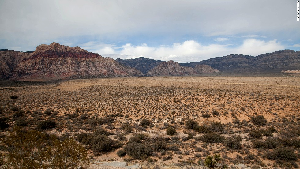 Red Rock Canyon is located about 20 miles west of the Las Vegas strip.