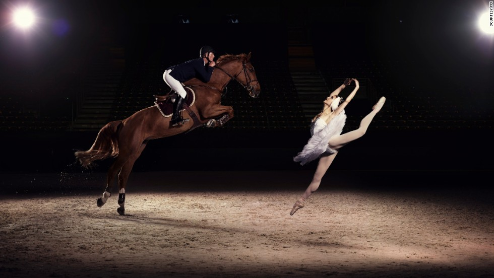 Defying gravity, U.S. Elite Jumping rider Charlie Jacobs meets his match in ballerina Liudmila Khitrova from the Belarus Bolshoi.