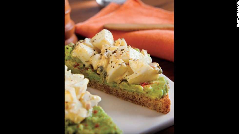 Egg whites and avocado-smeared toast make for a low-calorie, high-protein power breakfast.