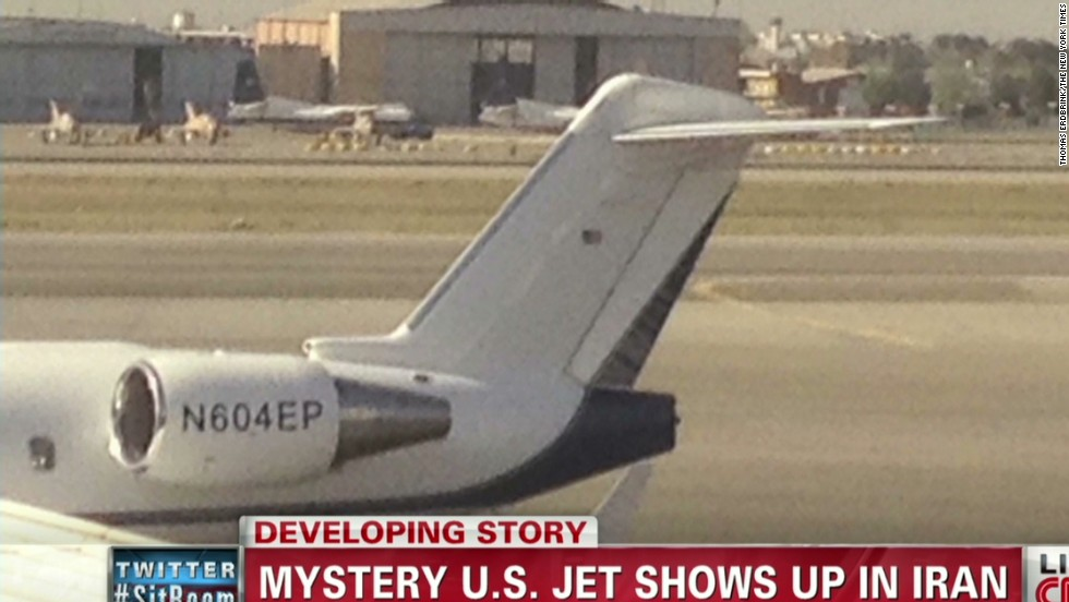 US airplane is spotted in Tehran - CNN Video