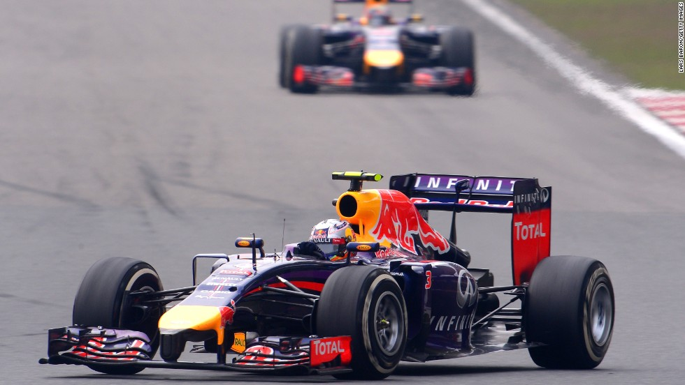 Daniel Ricciardo left his Red Bull teammate and four-time champion Vettel in his tire tracks in finishing a fine fourth in Shanghai.