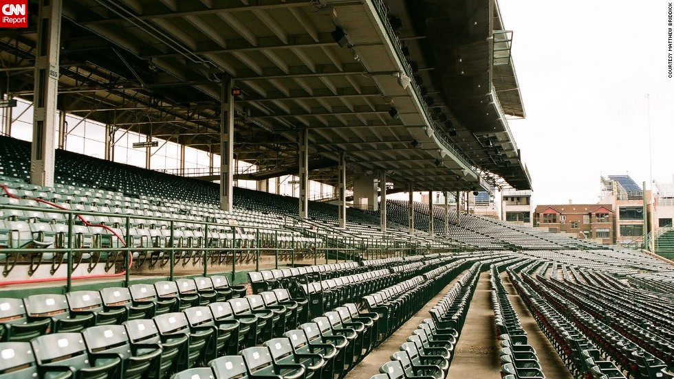 "Lifelong Cubs fan <a href=""http://ireport.cnn.com/docs/DOC-1122502"">Matthew Briddick</a> says the best part of Wrigley Field ""is watching the game, eating a hotdog, peanuts and drinking lots of beer."" He says the fans love the stadium as much as the team itself."