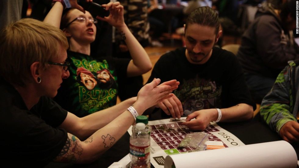 John the Freak teaches a joint rolling class at Seattle's Hempfest on April 20.