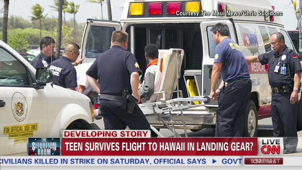 Teen hitches ride to Hawaii in jet's landing gear -- and lives to tell the tale