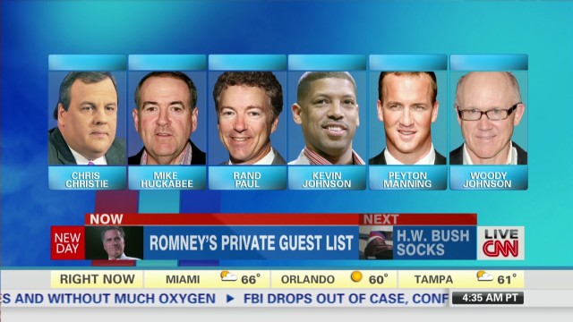 Romney's private guest list