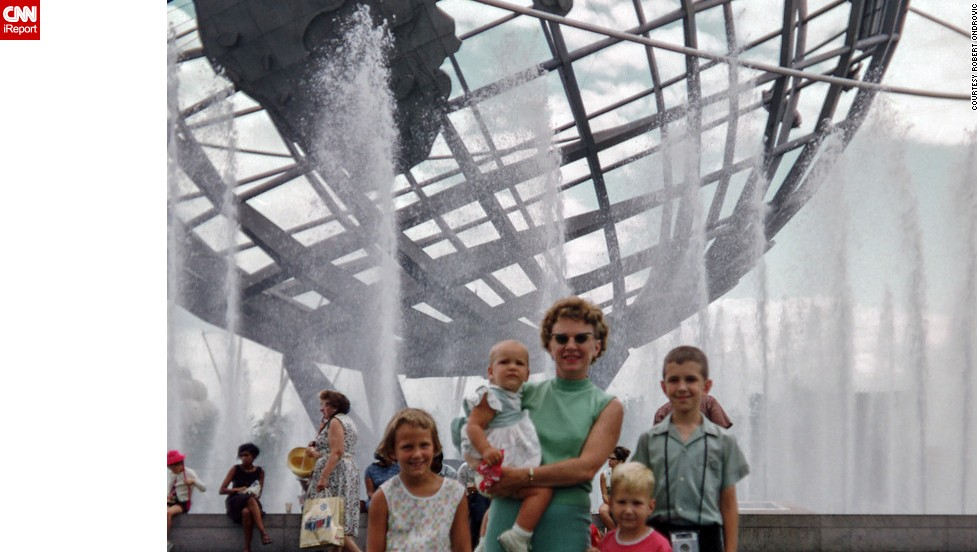 "Going to the 1964 World's Fair in Queens, New York, was <a href=""http://ireport.cnn.com/docs/DOC-1123630"">like taking a vacation</a> for the Ondrovic family, says Robert Ondrovic. Robert is the boy with the pink shirt, standing with his mother, brother and two sisters."