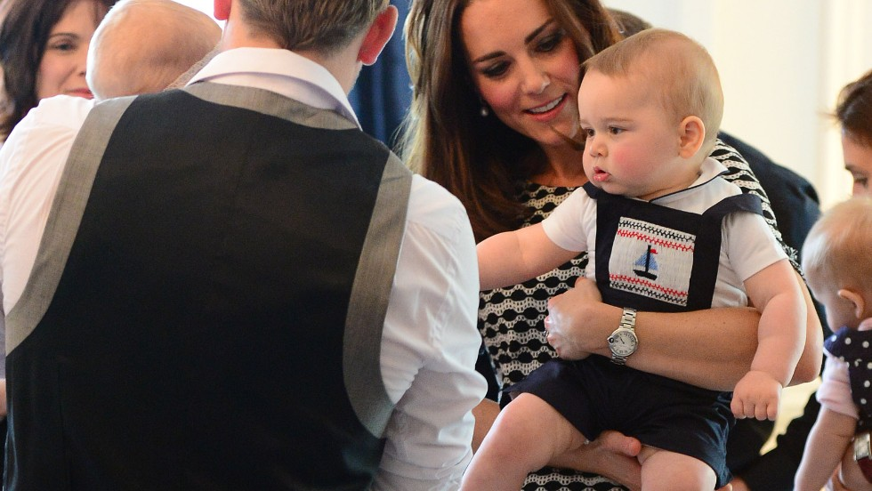 Prince George's outfits have been attracting just as much attention as Kate's recently. For his playdate at Royal New Zealand Plunket Society last week he went upmarket with Sailboat Smocked Dungarees from Rachel Riley and a bodysuit from the Chelsea Clothing Company.
