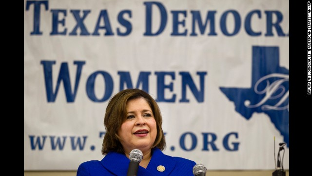 State Sen. Leticia Van de Putte speaks at the Texas Democratic Women's Convention in Austin, Texas, on, February 22.