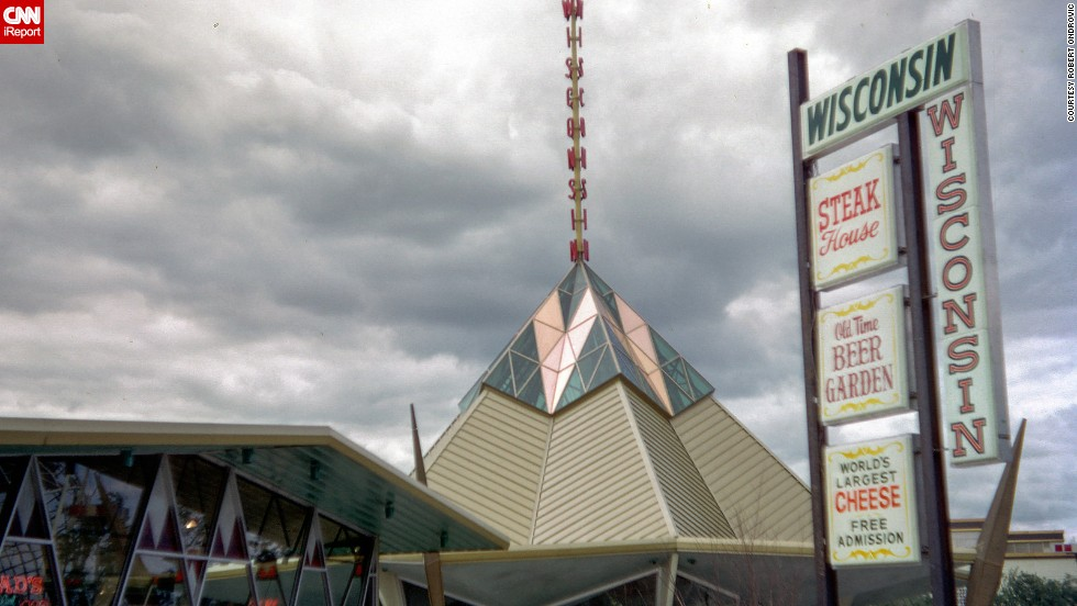 "The Wisconsin Pavilion housed the ""World's Largest Cheese"" as an exhibit."