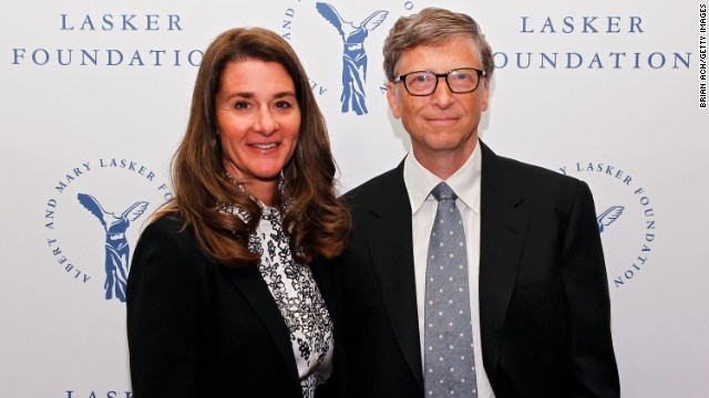 NEW YORK, NY - SEPTEMBER 20:  Melinda Gates and Bill Gates of the Gates Foundation, winners of the Public Service Award, are seen during the The Lasker Awards 2013 on September 20, 2013 in New York City.  (