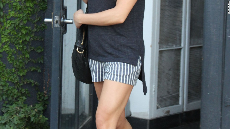 Lea Michele does relaxed summer casual in West Hollywood on April 22.