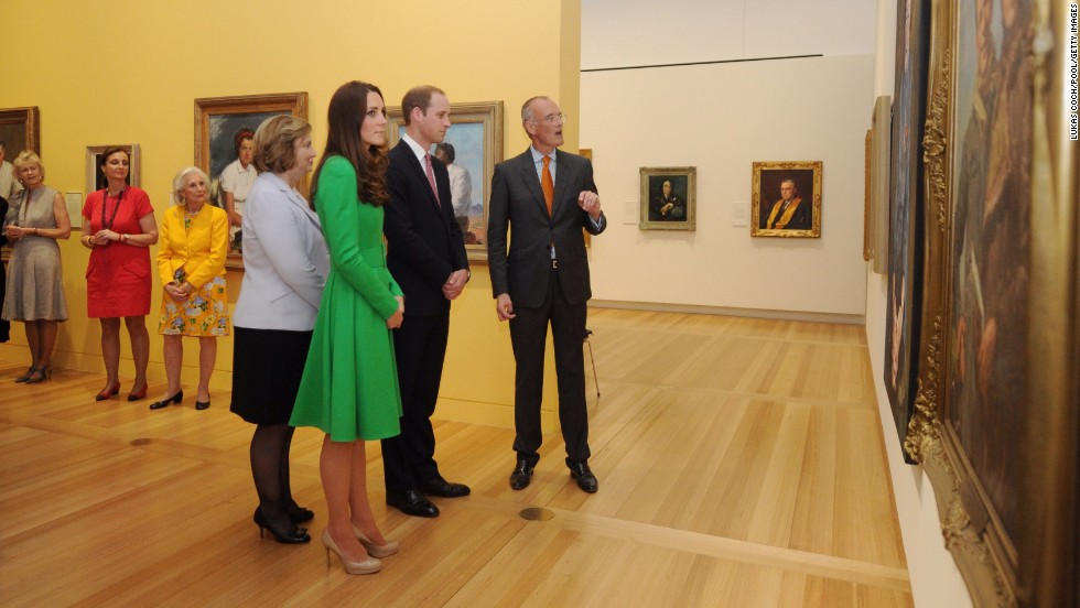 The royal couple visit the National Portrait Gallery in Canberra, Australia, on April 24.