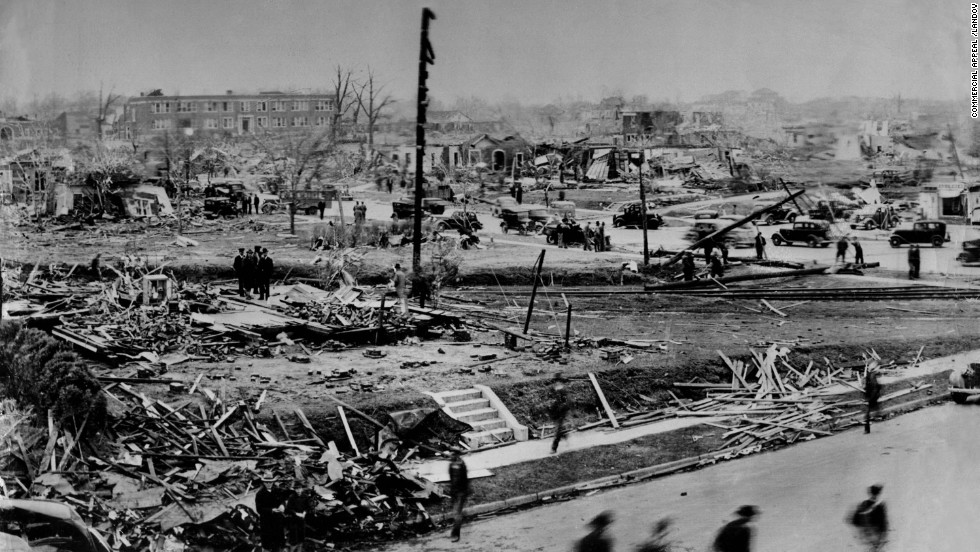 "<strong>4. </strong>The ""Tupelo Tornado"" killed 216 people and injured 700 on April 5, 1936, in the northeastern Mississippi city."
