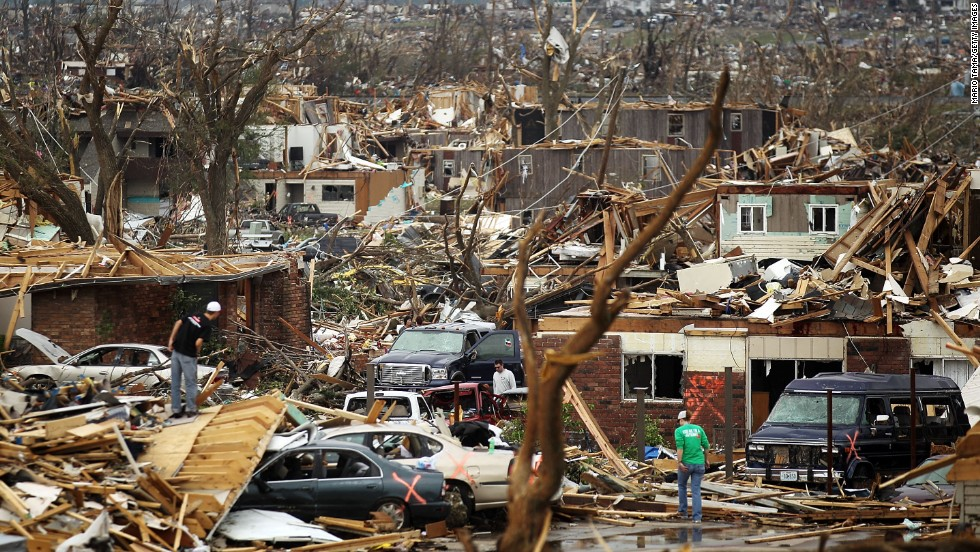 "<strong>7.</strong> The <a href=""http://www.cnn.com/2012/05/17/us/impact-joplin-tornado-anniversary/index.html"" target=""_blank"">tornado that struck Joplin, Missouri</a>, on May 22, 2011, killed 158 people and injured more than 1,000. The storm packed winds in excess of 200 mph and was on the ground for more than 22 miles."