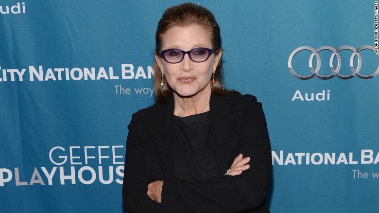 'Star Wars' actress Carrie Fisher hospitalized