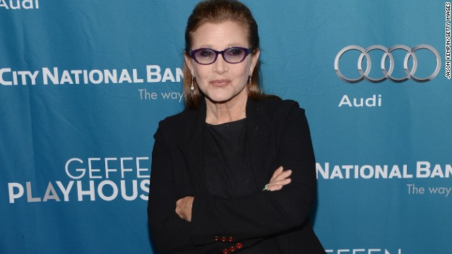 "LOS ANGELES, CA - MARCH 22:  Actress Carrie Fisher attends Geffen Playhouse's Annual ""Backstage At The Geffen"" Gala at Geffen Playhouse on March 22, 2014 in Los Angeles, California.  (Photo by Jason Kempin/Getty Images)"
