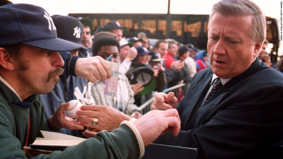 "The late New York Yankees owner George Steinbrenner was suspended from baseball for making illegal campaign contributions to Richard Nixon in 1974. He was banned for life in 1990 after paying a gambler $40,000 to get damaging information about a player, <a href=""http://www.cnn.com/2010/US/07/13/steinbrenner.obit/"" target=""_blank"">but Major League Baseball reinstated him three years later</a>."
