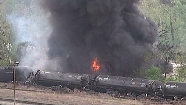 Train derailed in Virginia