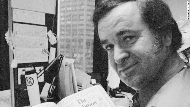 """Mad"" magazine editor Al Feldstein works on page layout in his office at the magazine's New York headquarters in 1972."
