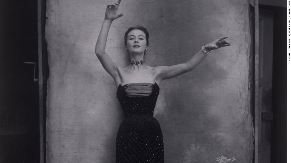 "The exhibition serves as a visual history of the way haute-couture was represented throughout the decades: ""The photos from the 1940s and 1950s were all about the ladylike attitude,"" says Florence Muller. ""The models were trained dancers, and they behaved and posed gracefully, like in classical ballet."""