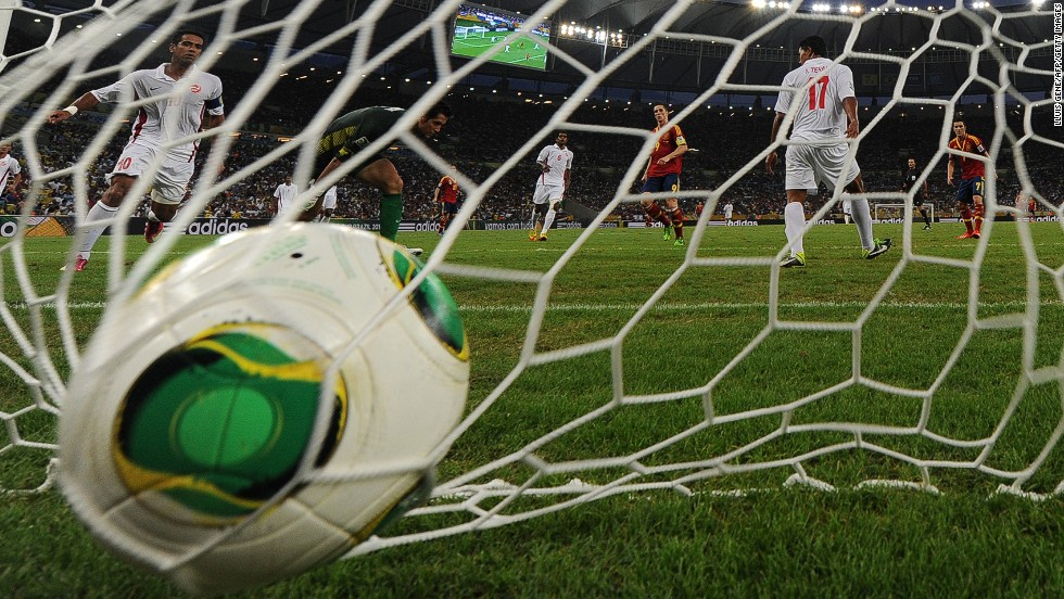 June 20, 2013: Tahiti's net bulged 10 times during their FIFA Confederations Cup Group B match against Spain at the Maracana Stadium in Rio de Janeiro.